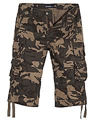 Jacamo Camo 3/4 Cargo Pants