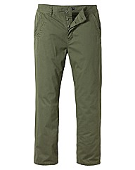 Jacamo Khaki Modern Chinos 27 Inches
