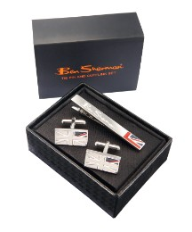 Ben Sherman Tie Pin & Cufflinks Set