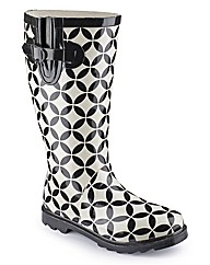 Viva La Diva Printed Wellies E Fit