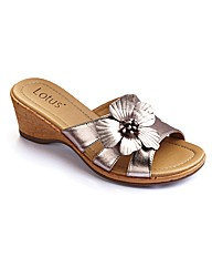 Lotus Flower Wedge Mules EEEEE Fit