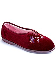 Free-Step Ladies V-Throat Slippers E Fit