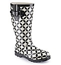 Viva La Diva Printed Wellies EEE Fit