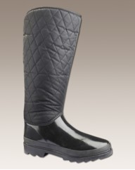 Ladies Quilted Welllies EEE Fit