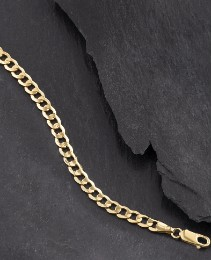 Gent's 9ct Gold Hollow Curb Bracelet