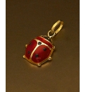 9ct Gold Ladybird Charm