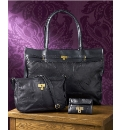 Giant Leather Shopper/Handbag/ Purse Blk