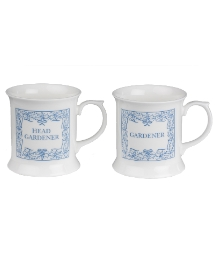Gardner and Head Gardener Tankard Set