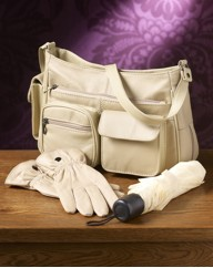 Ivory Bag Brolly And Gloves Set