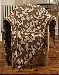 Reversible Leaf Jacquard Throw BOGOF