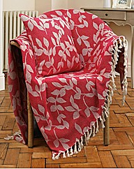 Leaf Jacquard Cushion Cover PK2 BOGOF