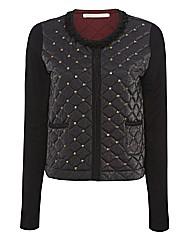 Passport Stud and Fringe Quilted Jacket