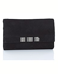 Van Dal Jewel Suede Clutch Bag