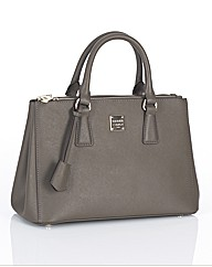 Maria Carla Small Leather Zip Tote Bag