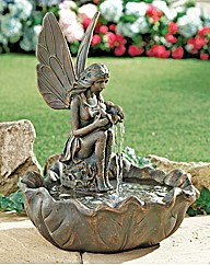 Fairy Leaf Solar Fountain