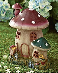 Toadstool Fairy House Solar Light