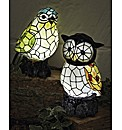 Tiffany Style Bird Solar Light