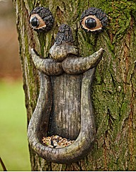 Tree Face Bird Feeder