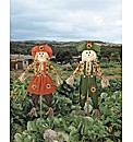 Mrs and Mrs Scarecrow Set