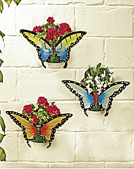 Butterfly Planters Set of 3