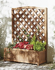 Wooden Wide Trellis Planter BOGOF