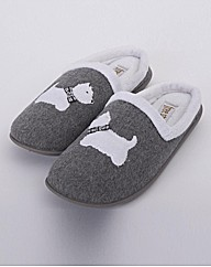 Scottie Dog Lotus Mule Slipper EEE Fit