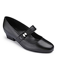 Orthopedic Strap Court Shoes EE Fit