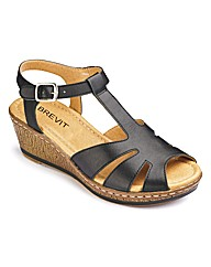 Brevitt T-Bar Sandals EEE Fit