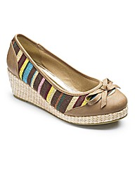 Sole Diva Stripe Wedge Shoes EEE Fit
