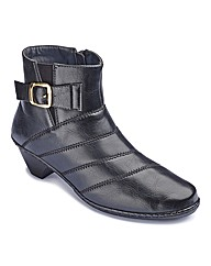 Cushion Walk Buckle Ankle Boots E Fit