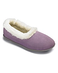 Lotus Suede Slippers EEE Fit