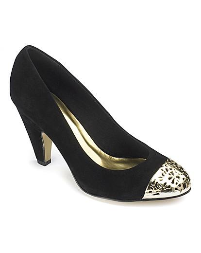 Dolcis Toe Cap Court Shoes E Fit