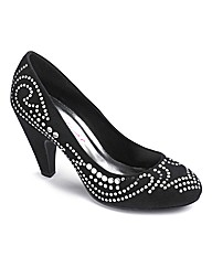 Dolcis Studded Court Shoes E Fit
