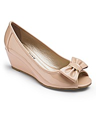 Footflex by Lotus Peep Toe Shoe E Fit