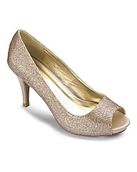 The Shoe Tailor Peep Toe Court Shoe EEE
