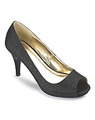 The Shoe Tailor Peep Toe Court Shoes E
