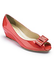 Van Dal Patent Peep Toe Shoes EEE Fit