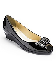 Van Dal Patent Peep Toe Shoes E Fit