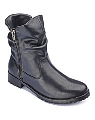 The Shoe Tailor Zip Boots E Fit