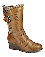 Lotus Wedge Mid Boots E Fit