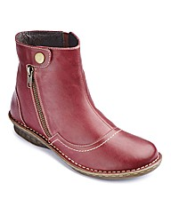 Brevitt Leather Ankle Boots EEE Fit