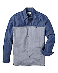 Jacamo Colour Block Denim Shirt L