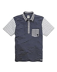 Lambretta Mixed Stripe Polo Shirt Long