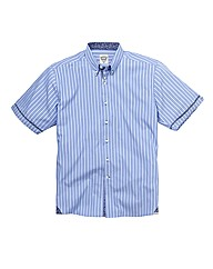 Lambretta Stripe Short Sleeve Shirt Long