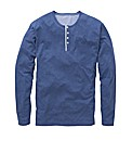 Jacamo Long Sleeve Grandad Top Regular