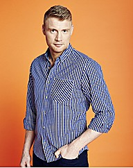 Flintoff Long Sleeve Small Check Shirt L