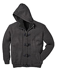 Jacamo Fleece Lined Hooded Cardigan