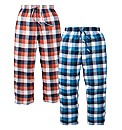 Jacamo 2 Pack Flannel Check Loungepants