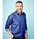 Flintoff By Jacamo Denim Shirt Regular