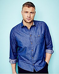 Flintoff By Jacamo Denim Shirt Long
